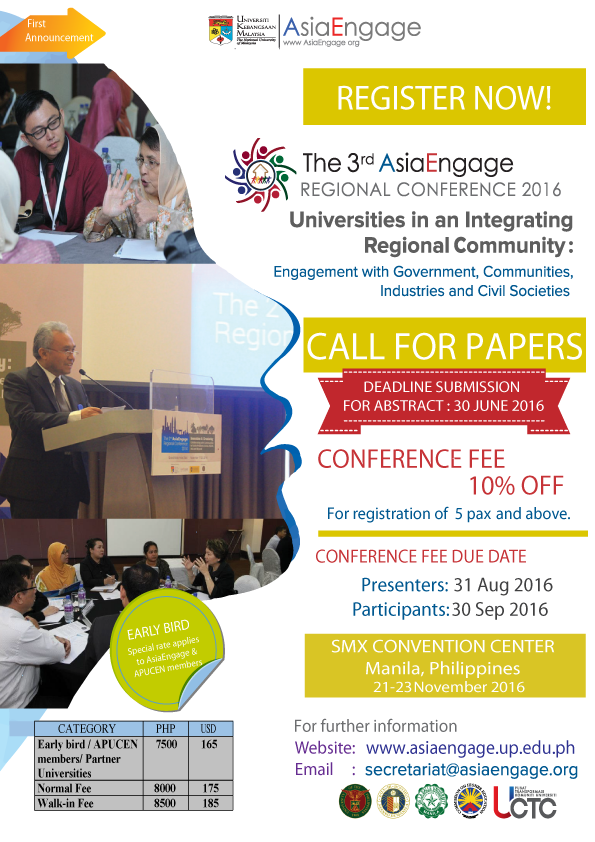The 3rd AsiaEngage Regional Conference 2016 Poster