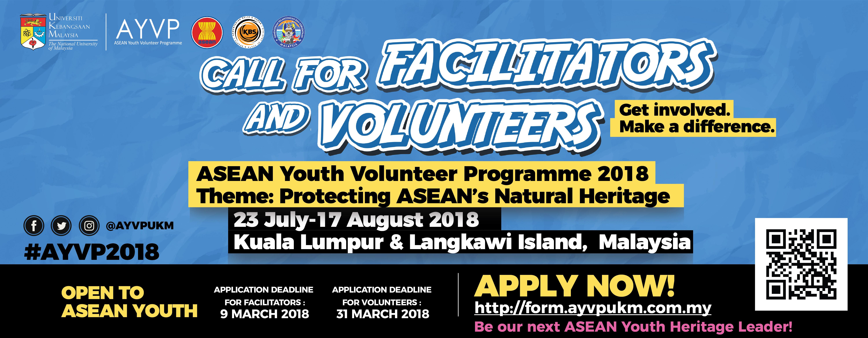 Call for AYVP Malaysia 2018 Facilitators & Volunteers!