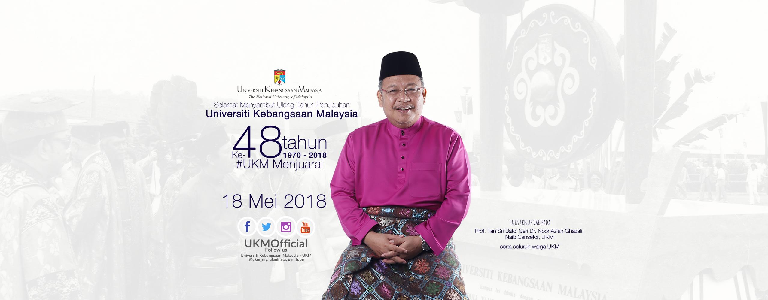 Ulang tahun penubuhan Universiti Kebangsaan Malaysia yang ke-48 tahun