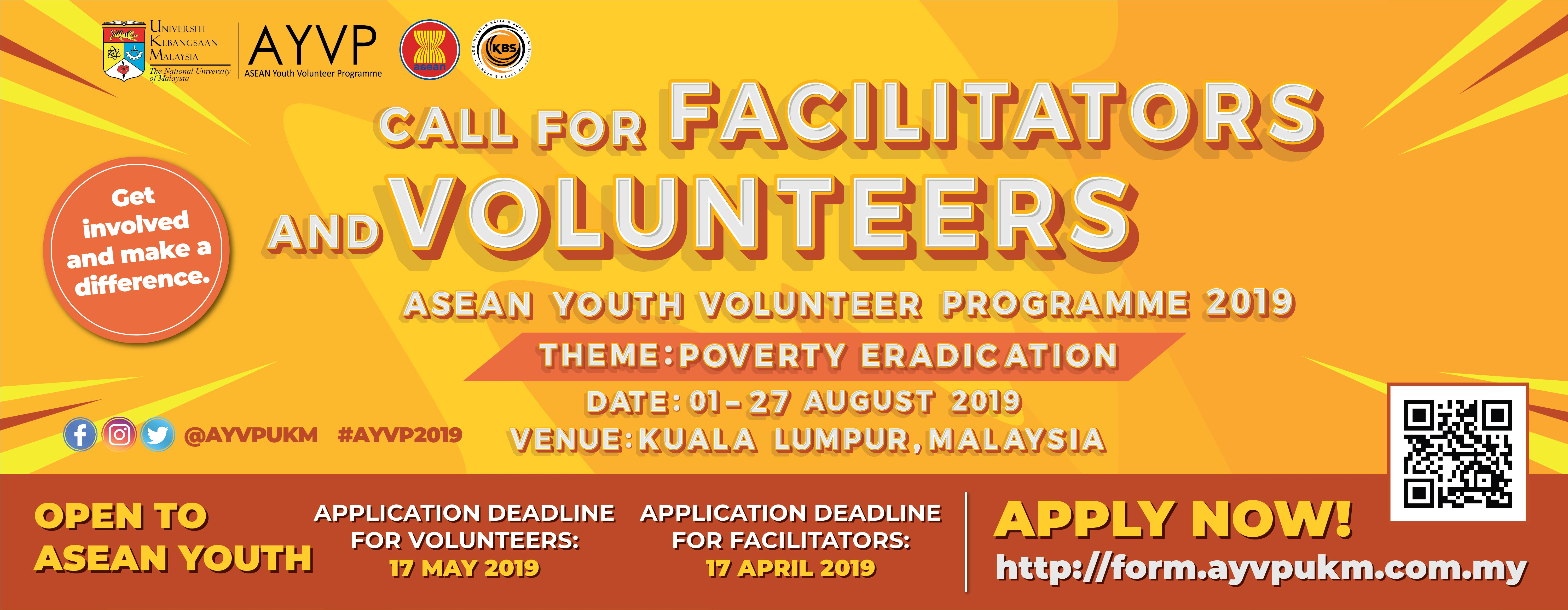 Call for AYVP Malaysia 2019 Facilitators & Volunteers!