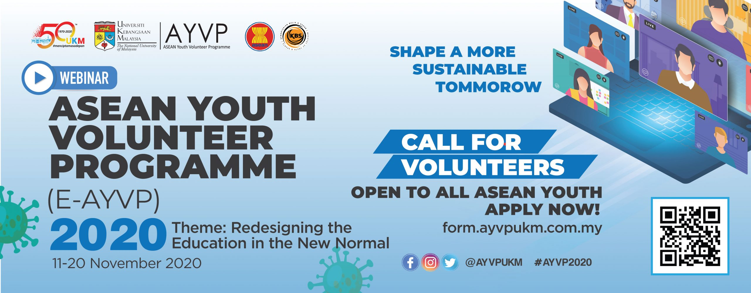 Call for Volunteer E-AYVP 2020